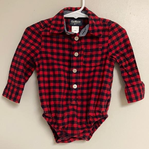 🌿3/$18🌿OSH KOSH B'GOSH Flannel Onesie Shirt